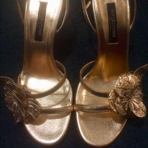 Sergio Rossi Beautiful gold sandals authentic
